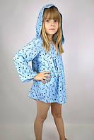 """Туника """"Звёздочки"""" голубая (134 - 140) - пляжная одежда для детей, туники, панамы, рубашки"""