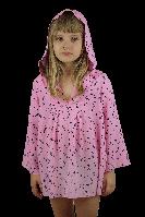 """Туника """"Звёздочки"""" розовая  (134-140) - пляжная одежда для детей, туники, панамы, рубашки"""