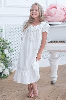Детская ночная сорочка для сна белая