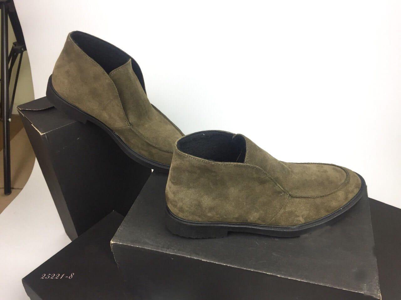 Женские ботинки лоферы цвета хаки из натуральной замши(в наличии и под заказ 10-20 дней)