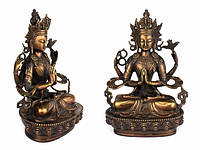 Статуя. Бронза. Чинрезиг (Авалакитешвара) Оксид (29х21х14 см)