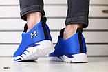 Мужские кроссовки в сеточку, синие, фото 2