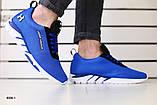 Мужские кроссовки в сеточку, синие, фото 3