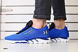 Мужские кроссовки в сеточку, синие, фото 5