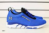 Мужские кроссовки в сеточку, синие, фото 6
