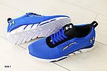 Мужские кроссовки в сеточку, синие, фото 7