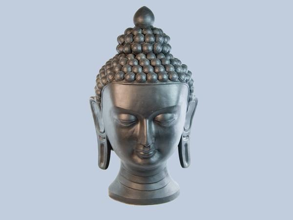 Статуя. Кераміка. Голова Будди (55х30х30 см) Чорний