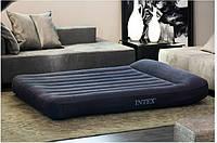 Кровать надувная intex 66770 двуспальная без насоса велюровая