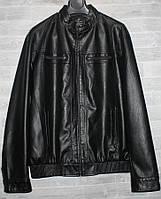 """Куртка мужская кожзам демисезонная батальная, размеры 62-74 """"FUDIRO"""" недорого от прямого поставщика"""