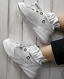 Кроссовки молодежные из натуральной кожи белого цвета от производителя модель НИ-030, фото 5