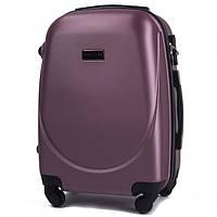 Дорожный чемодан пластиковый Wings 310 ручная кладь на 4 колесах бордовый