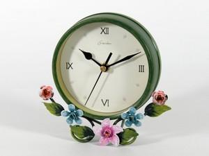 Часы Ретро (17х15х4 см) Металл. Люнарэ. Тихий Ход. Зеленый