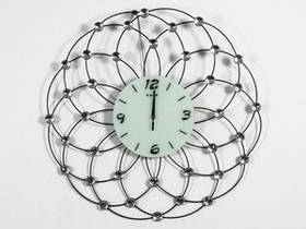 Часы Настенные Фигурные (75х75х5 см) Металл. Хрусталь. Latome / Атом