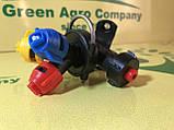 Форсунка на опрыскиватель тройная (трехпозиционная) на трубу диаметром 22 мм Agroplast., фото 2