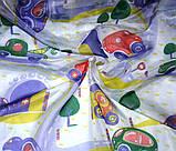 """Тюль вуаль """"Дорожки и машинки"""", фиолет, красный, желтый, зеленый, фото 2"""