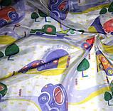 """Тюль вуаль """"Дорожки и машинки"""", фиолет, красный, желтый, зеленый, фото 7"""