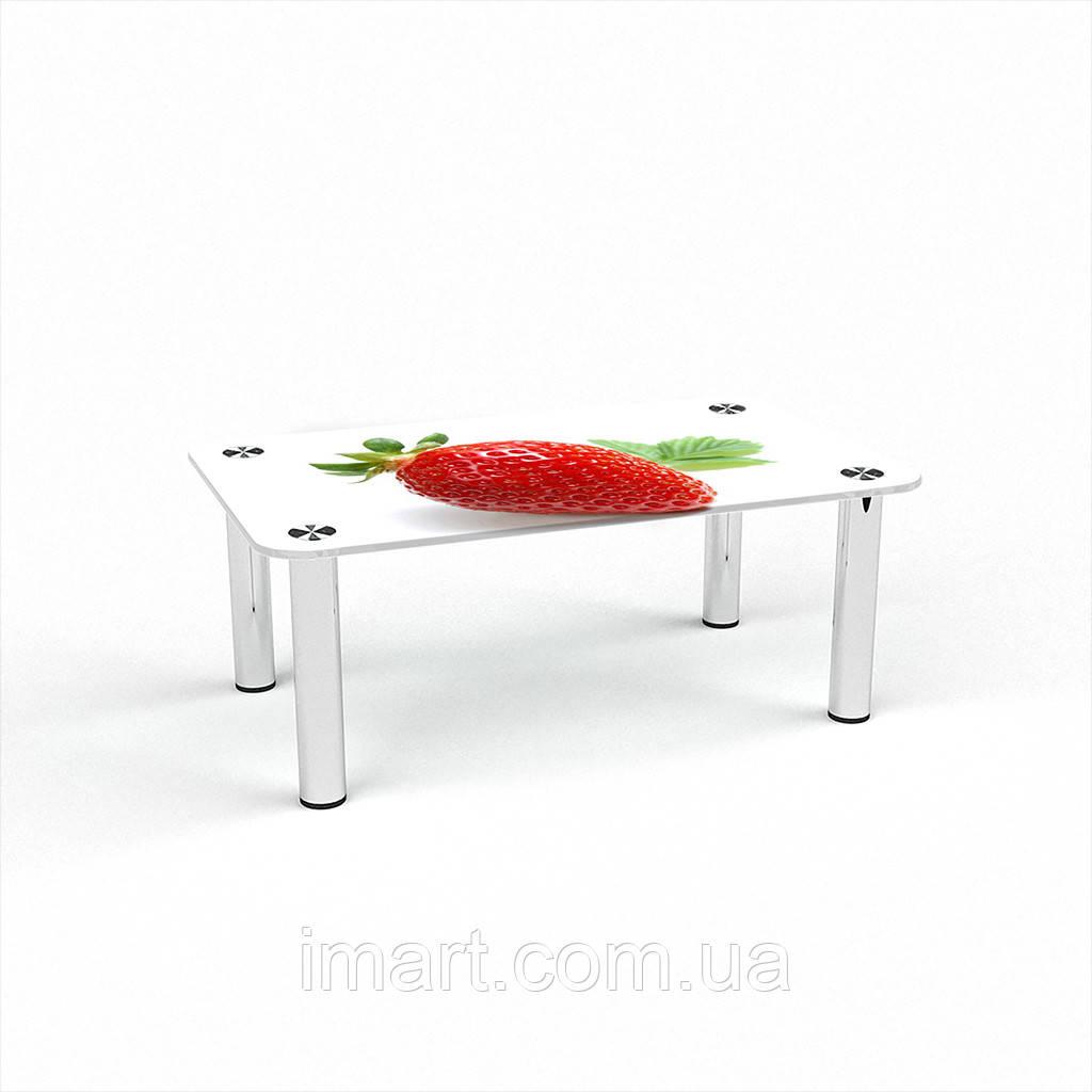 Журнальный стол прямоугольный Sweet berry стеклянный