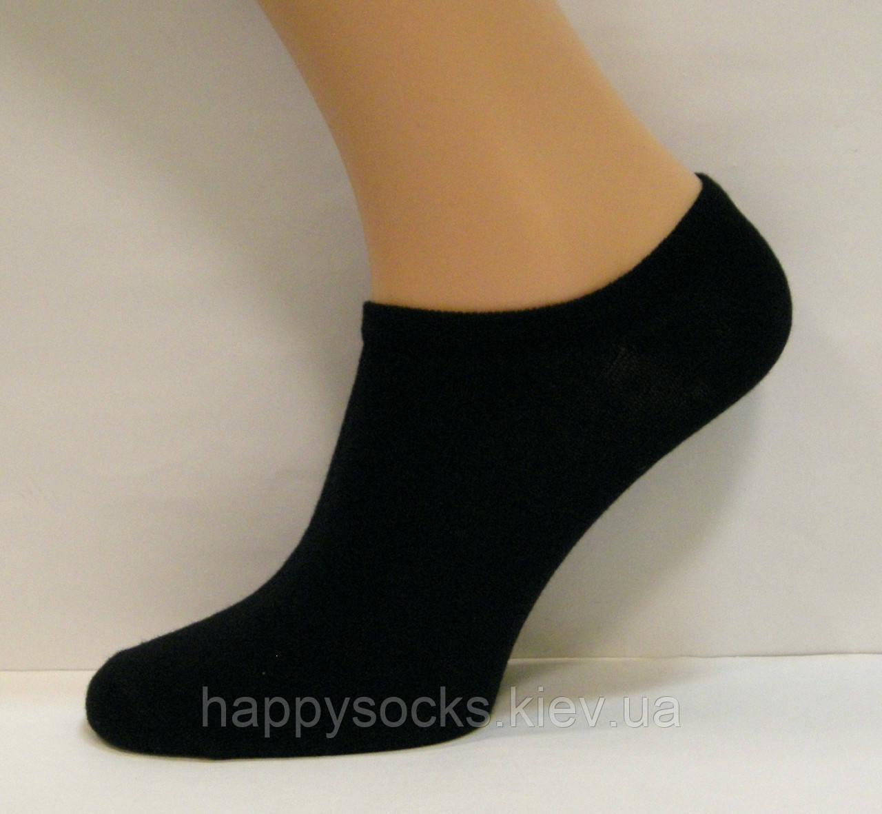Летние женские укороченные носки черного цвета