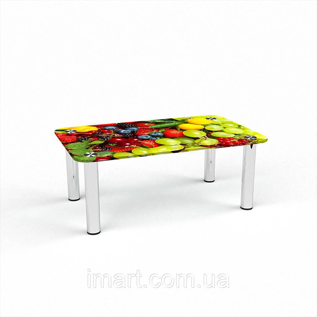 Журнальный стол прямоугольный Wood berry стеклянный