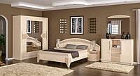 Спальня Аляска Мебель Сервис дуб молочный / капучино глянец