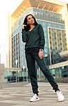 Женский стильный прогулочный костюм машинной вязки (в расцветках), фото 8