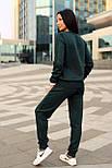 Женский стильный прогулочный костюм машинной вязки (в расцветках), фото 6