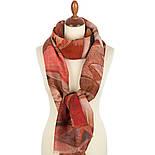 Палантин шерстяной 10496-4, павлопосадский шарф-палантин шерстяной (разреженная шерсть) с осыпкой, фото 4