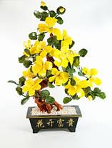 Дерево счастья (60х45х25 см) Цветок. Камень. Пион. 12 цветов, 2 бутона, 2 цвета