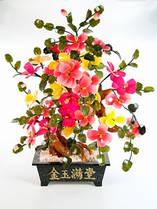 Дерево счастья (60х45х25 см) Цветок. Камень. Пион. 28 цветов, 2 бутона, 2 цвета