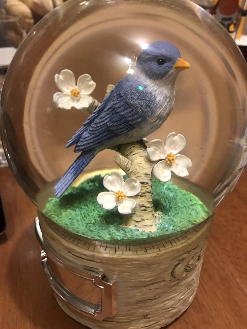 """Музыкальный стеклянный шар """"Птичка"""". Эксклюзивный подарок! (США) Мелодия Вивальди"""