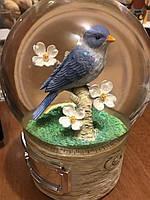"""Музыкальный стеклянный шар """"Птичка"""". Эксклюзивный подарок! (США) Мелодия Вивальди, фото 1"""