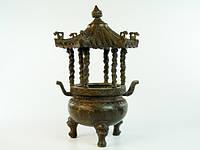 Статуэтка Бронзовая. Чаша Пагода (25х16х16 см) oxid