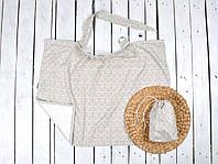 Накидка для кормления с сумочкой чехлом, Геометрические елки, фото 1