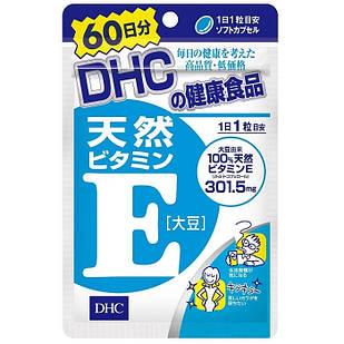 DHC Натуральный витамин Е, 60 капсул на 60 дней
