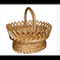 """Пасхальная плетеная корзина """"Торжественная"""" из лозы: д39, ш31, глубина 16, высота борта 22, в34"""
