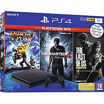 Игровая приставка Sony PlayStation 4 Slim 1TB + Ratchet & Clank + The Last of Us + Uncharted 4 PS4 Slim