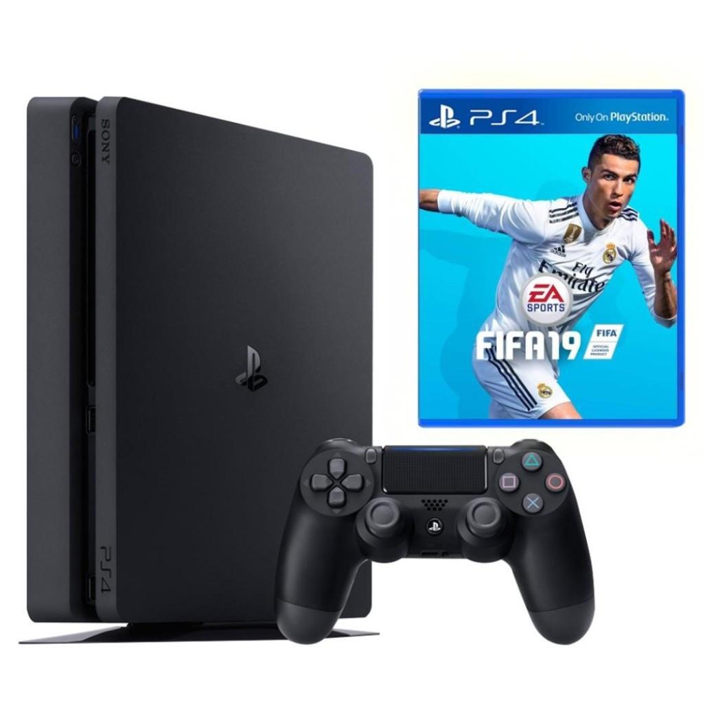 Игровая приставка Sony PlayStation 4 Slim 500GB + FIFA 19 PS4 Slim