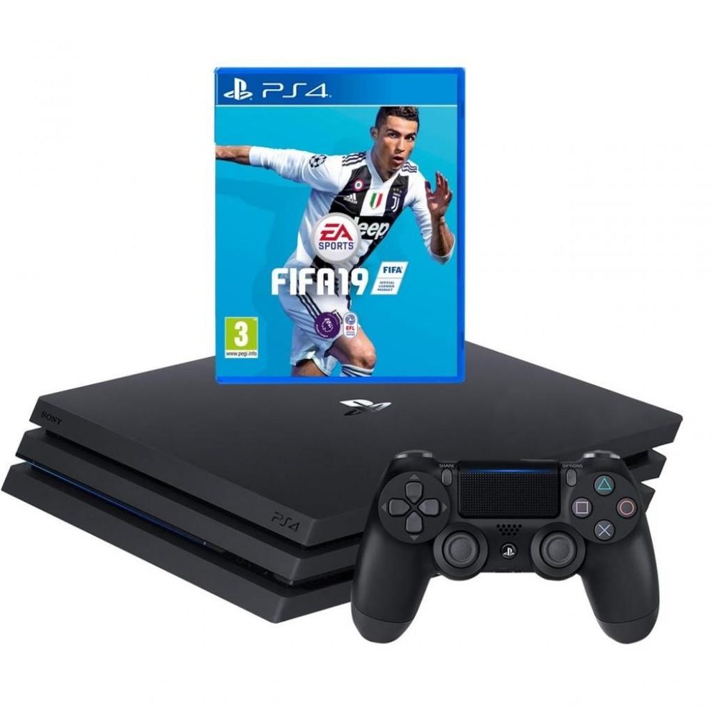 Игровая приставка Sony PlayStation 4 Pro 1TB + FIFA 19