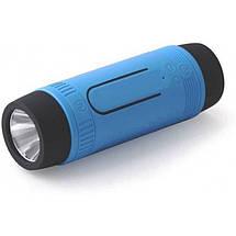Портативная Bluetooth колонка Zealot S1 с функцией power bank и фонариком Синяя, фото 2