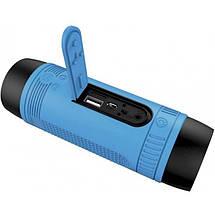 Портативная Bluetooth колонка Zealot S1 с функцией power bank и фонариком Синяя, фото 3