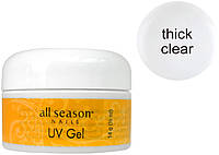 Гель All Season thinсk clear для наращивания ногтей, Прозрачный (14 мл) Оригинал