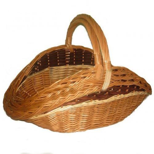 Плетеные дровницы для камина - набор. Корзины для дров (2 шт)