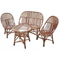 Комплект плетеной мебели Модерн (стол + диван + 2 кресла)