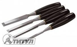 ТИТУЛ  Стамески 4 шт(6,12,18,24мм) пластиковые ручки, Арт.: 14-1700