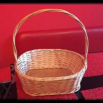 Плетеная корзина для подарков плетеная овальная (длина 38 см, ширина 32 см, высота 40 см)