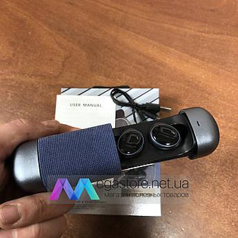 Бездротові bluetooth-навушники HIFI Earphone 206 гарнітура з кейсом для підзарядки спортивні сині