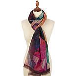 Палантин шерстяной 10166-5, павлопосадский шарф-палантин шерстяной (разреженная шерсть) с осыпкой, фото 2