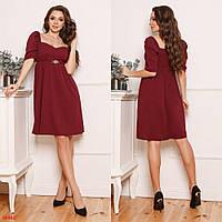 .Платье женское свободного кроя,ткань креп-дайвинг, с брошью ,размеры 42-44, 44-46, 48-50, 52-54, 56-58