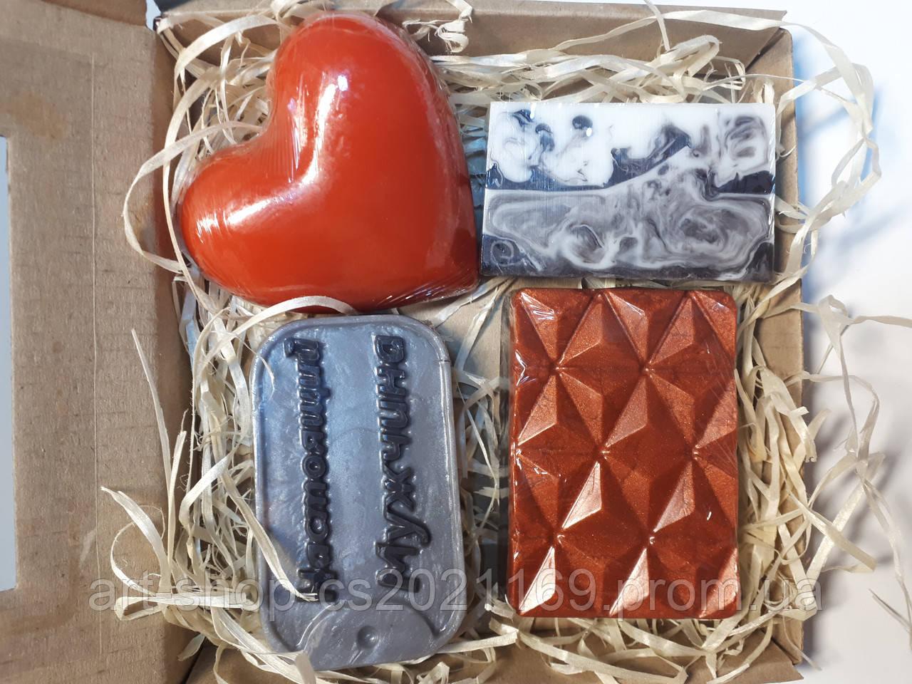 Мужской подарочный набор натурального мыла