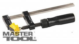"MasterTool  Струбцина столярная тип ""F""  300*120 мм, 3200Н, деревянная ручка, DIN5117, Арт.: 07-0004"
